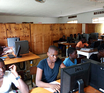 Inside the classromm of the 4th Annual Community Outreach Computer Program