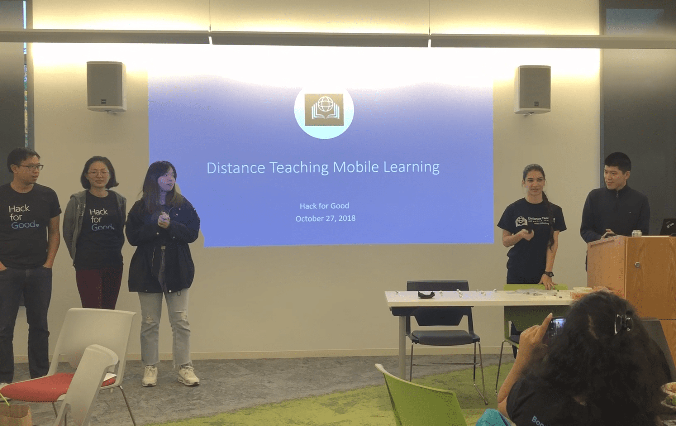 Distance Teaching Mobile learning Hack for Good Winners