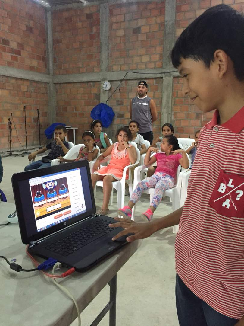 Kids Learning through gaming at JAAS Foundation event