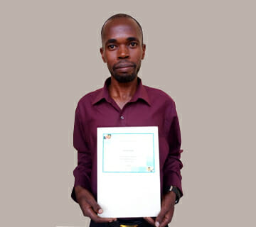 Man with Microsoft Digital Literacy Certification Acheivement