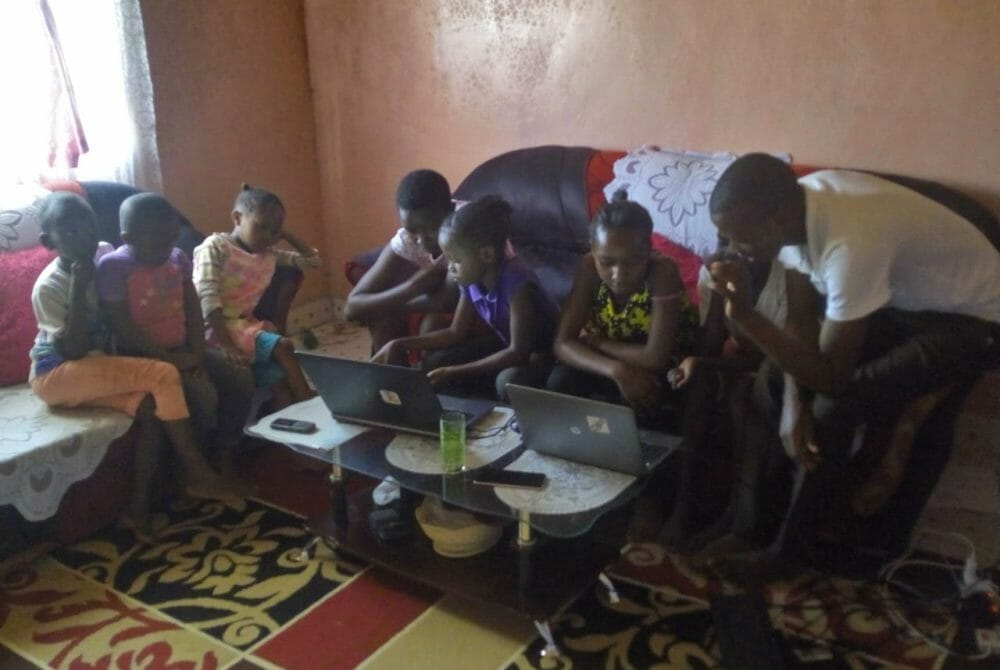 Picture of group with the JAAS Foundation introducing new technology