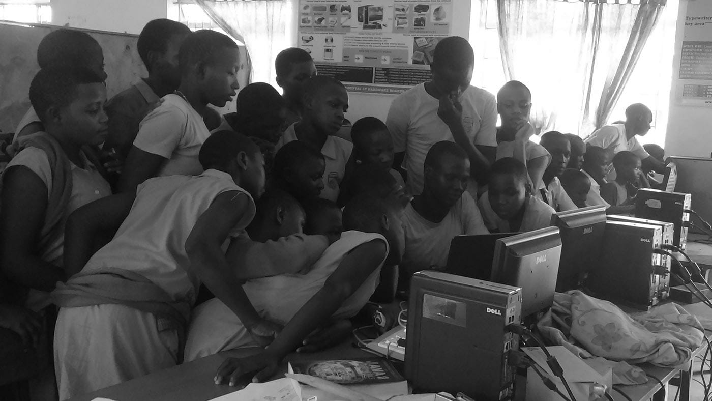 Classroom plays on a new PCs during DTML from JAAS foundation